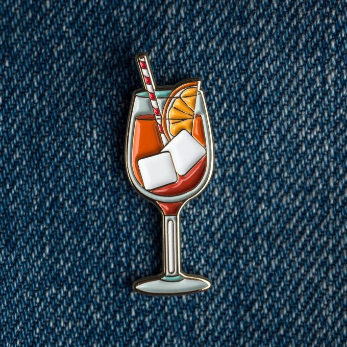 Aperol Cocktail Pin